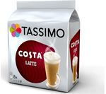 TASSIMO Costa Latte T Discs - Pack of 8