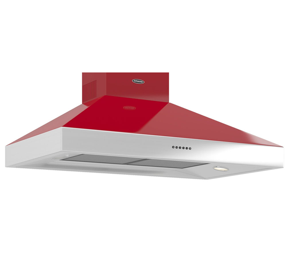 BRITANNIA Latour TPBTH100GR Chimney Cooker Hood - Gloss Red
