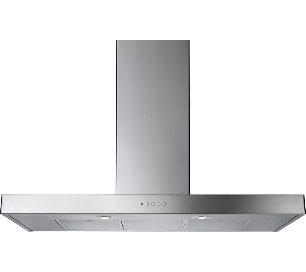 RANGEMASTER Flat 90 Chimney Cooker Hood - Stainless Steel