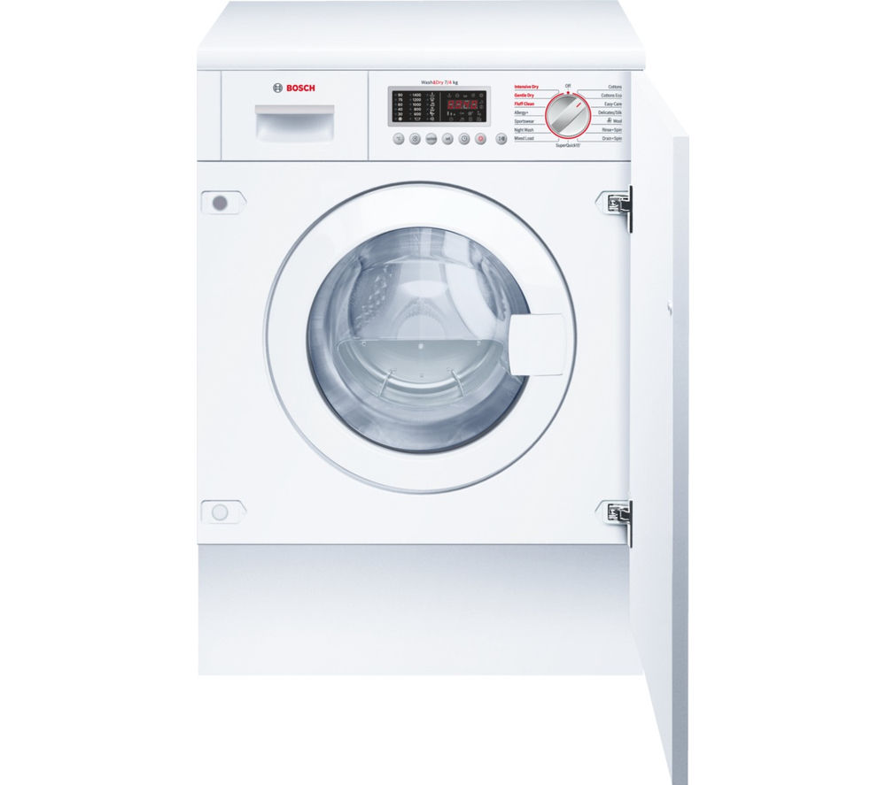 BOSCH WKD28541GB Integrated Washer Dryer - White
