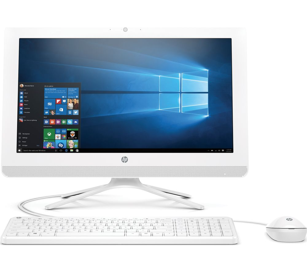 "HP 22-b060na 21.5"" All-in-One PC - White + Office 365 Personal"