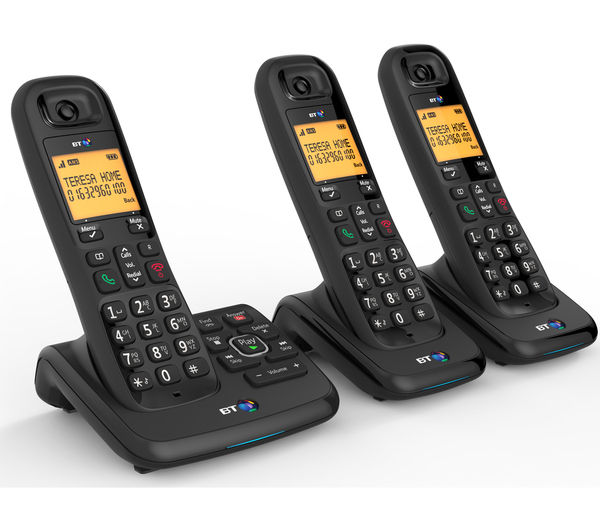 buy bt xd56 cordless phone with answering machine triple. Black Bedroom Furniture Sets. Home Design Ideas