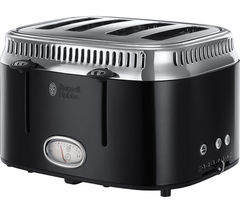 Retro 21691 4-Slice Toaster - Black