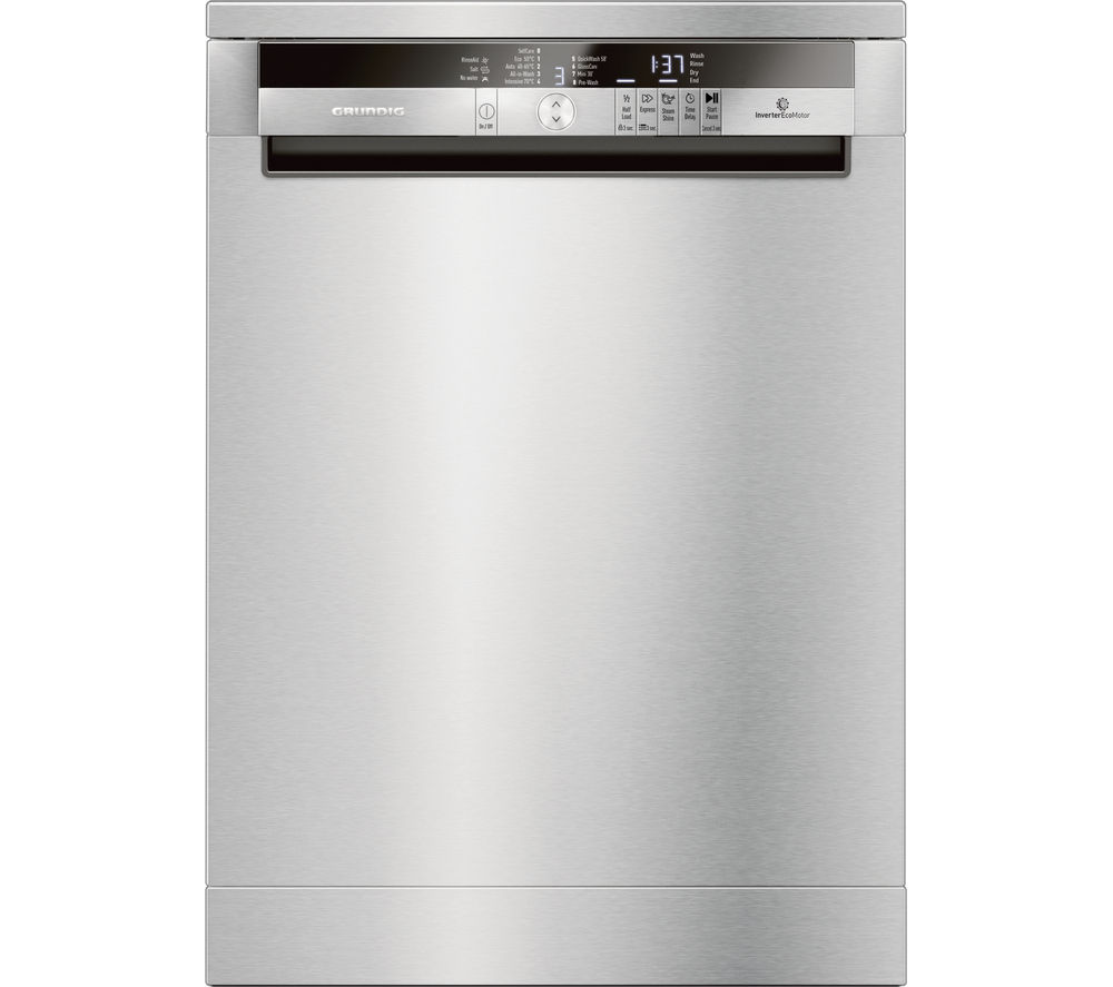 GRUNDIG GNF41822X Full-size Dishwasher - Stainless Steel