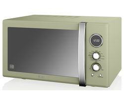 SWAN SM22080GN Retro Digital Microwave with Grill - Green