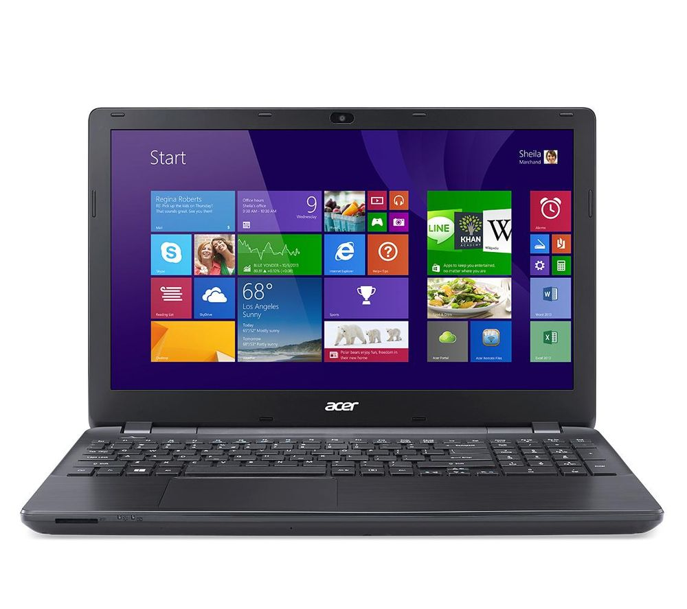 "ACER Aspire E5-553-10Q6 15.6"" Laptop - Black + Office 365 Home - 1 year for 5 users + LiveSafe Premium - 1 user / unlimited devices for 1 year"
