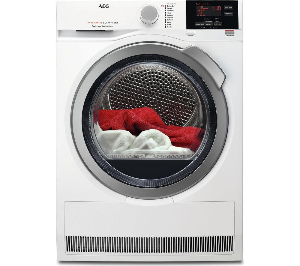 AEG ProSense T6DBG822N Condenser Tumble Dryer - White