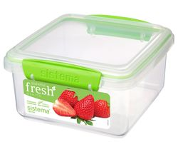 SISTEMA Lunch Plus Fresh 1.2 litre Container - Green