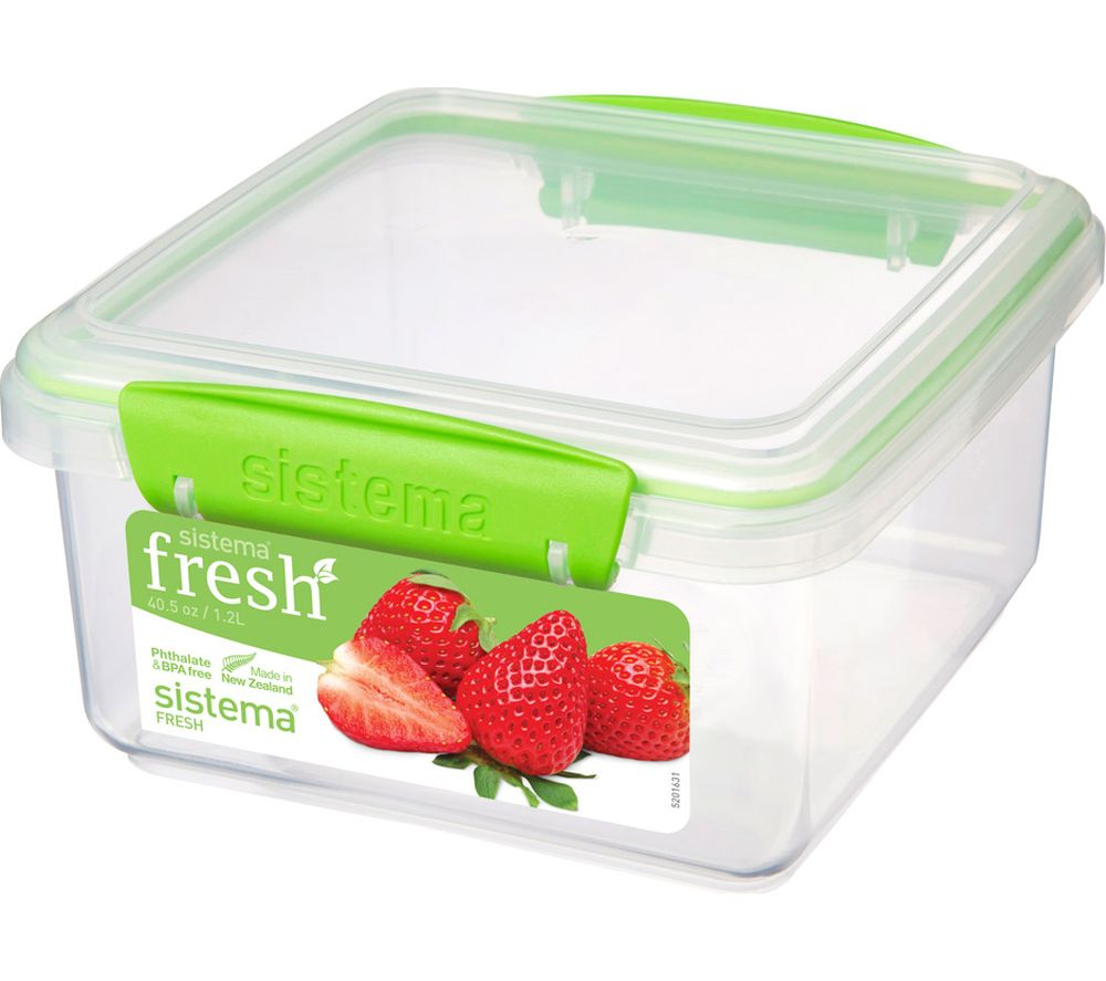 SISTEMA Lunch Plus Fresh 1 2 litre Container - Green