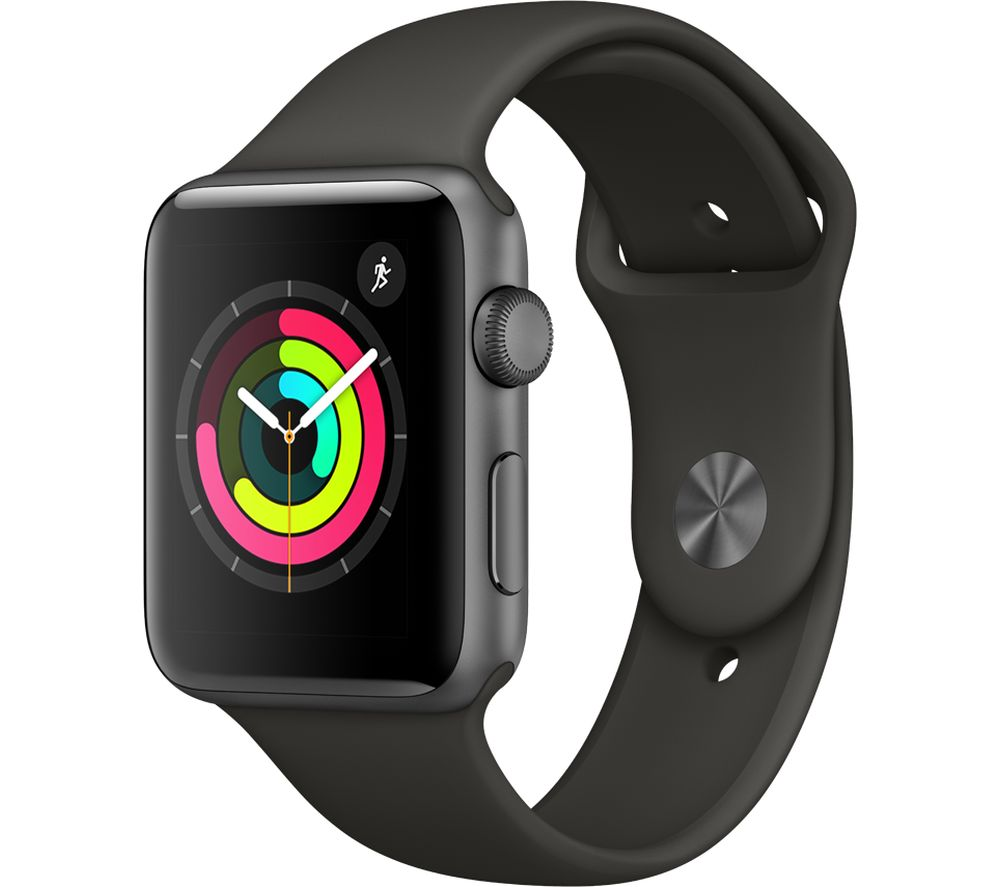 APPLE Watch Series 3 - Grey, 42 mm, Grey cheapest retail price