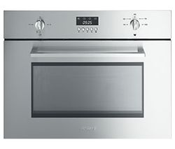Cucina SC445MX Built-in Compact Microwave with Grill - Stainless Steel
