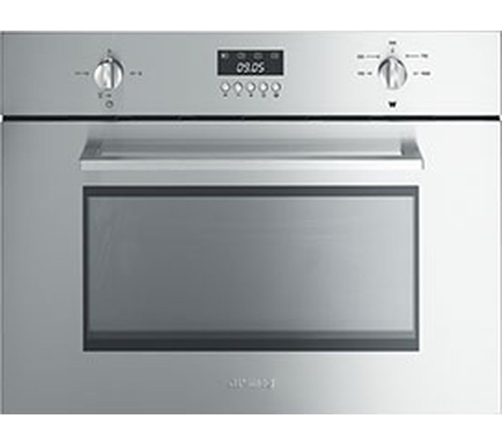 Smeg Cucina Sc445mx Built In Compact Microwave With Grill Stainless Steel