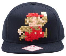 MARIO 3D Pixel Jumping Snapback Cap - Blue