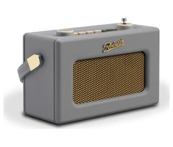 ROBERTS Revival Uno Retro Portable Clock Radio - Dove Grey