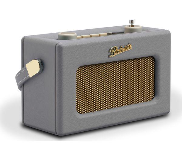 Image of ROBERTS Revival Uno Retro Portable DAB+/FM Radio - Dove Grey