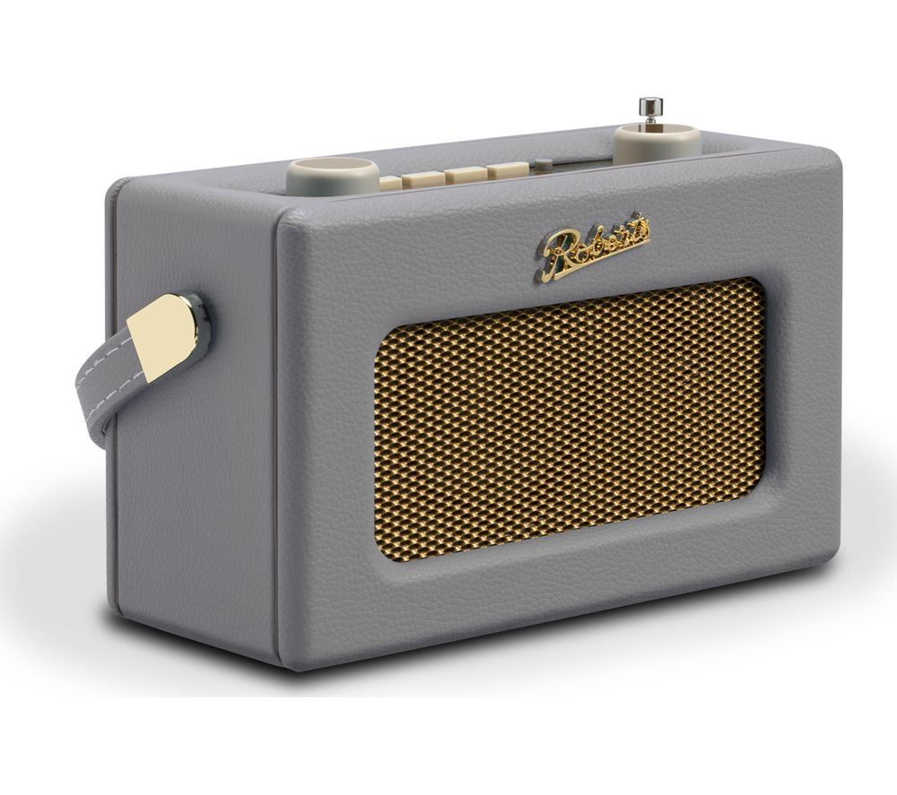 Image of ROBERTS Revival Uno Retro Portable Clock Radio - Dove Grey, Grey