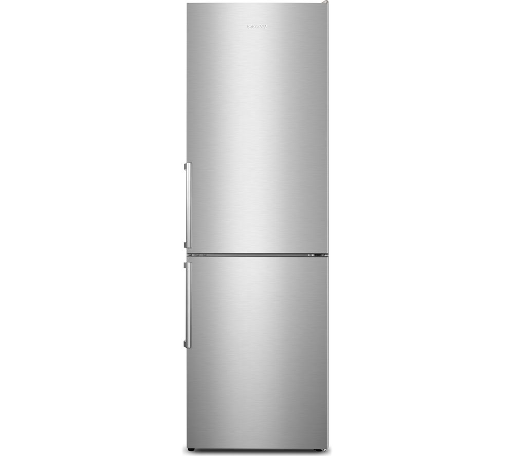 KENWOOD KNF60X18 60/40 Fridge Freezer - Inox, Cream