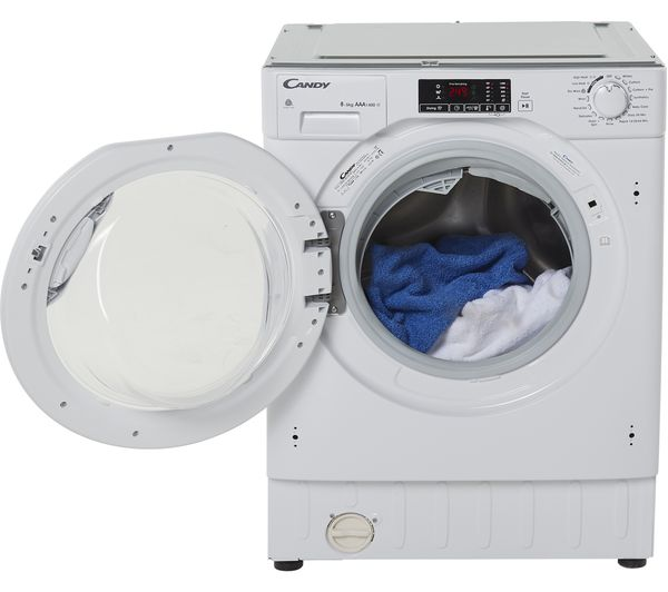 Image of CANDY CBWD 8514DC Integrated 8 kg Washer Dryer - White