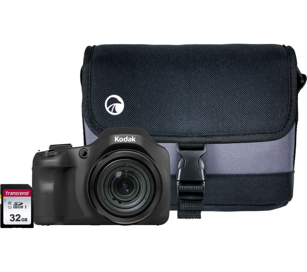 KODAK PIXPRO AZ652 Bridge Camera with Case & SD Card - Black, Black