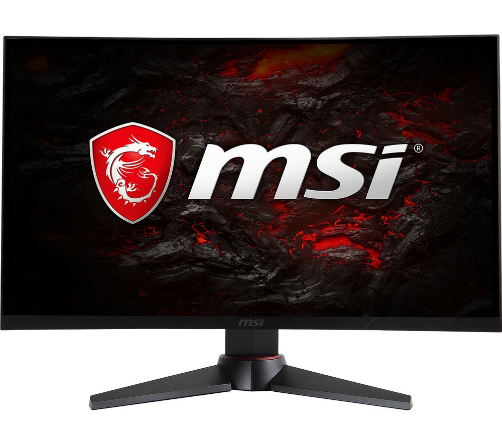 "MSI Optix MAG24C Full HD 24"" Curved LED Gaming Monitor - Black & Red"