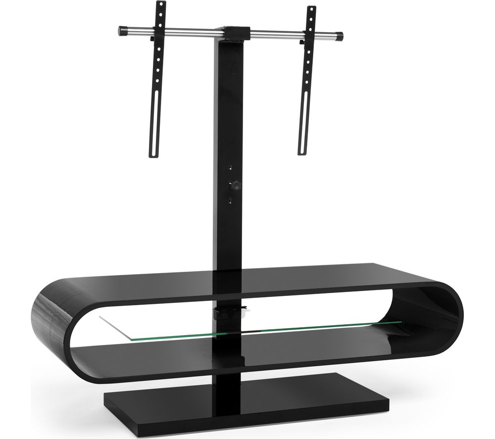 Image of TECHLINK OV120TVB 1160 mm TV Stand with Bracket - Black, Black