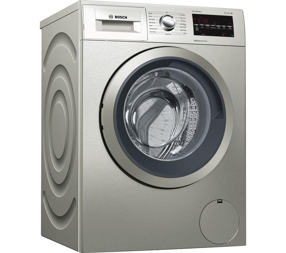 BOSCH Serie 6 WAT2840SGB 9 kg 1400 Spin Washing Machine - Inox
