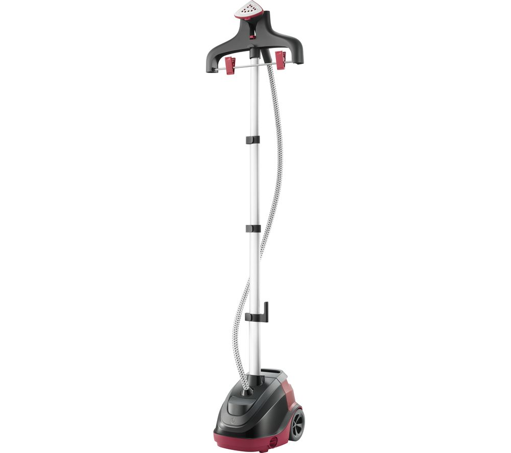 TEFAL Master Precision 360° IT6540 Upright Garment Steamer – Black and Red, Black