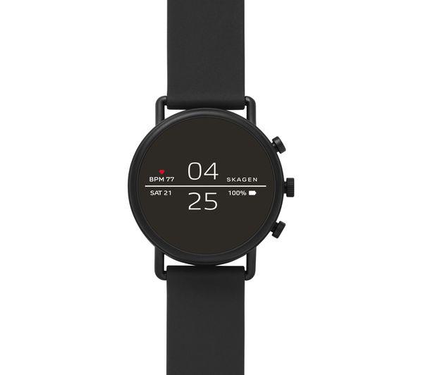 Image of SKAGEN Falster 2 Smartwatch - Black, Leather Strap