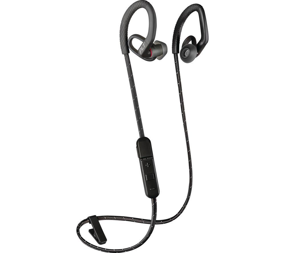 PLANTRONICS BackBeat FIT 350 Wireless Bluetooth Headphones - Black, Black