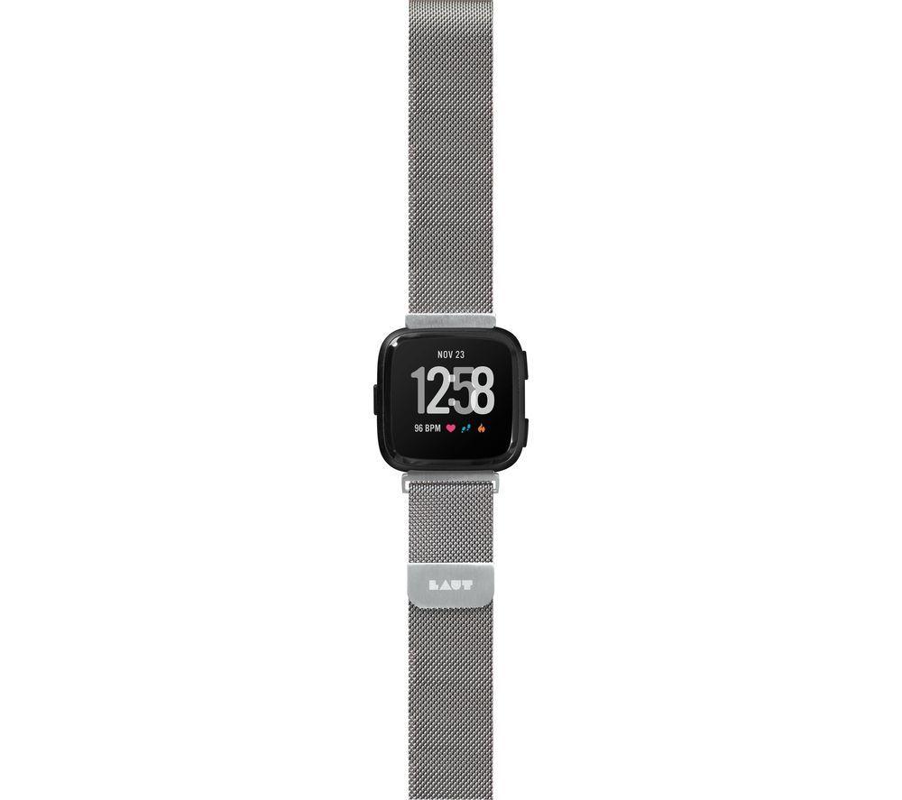 LAUT Fitbit Versa Steel Loop Strap - Silver, Small