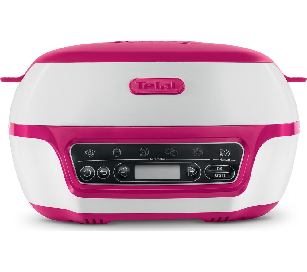 TEFAL Cake Factory KD801840 Precision Mini Oven - White & Pink