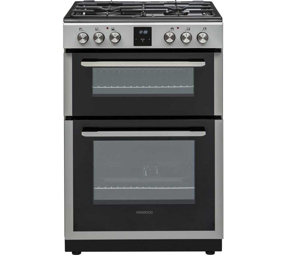 KENWOOD KDGC66S19 60 cm Dual Fuel Cooker - Silver, Silver