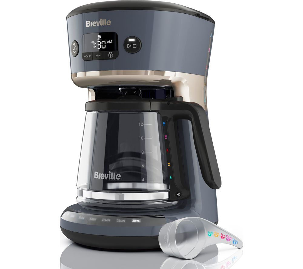 BREVILLE Mostra Easy Measure VCF114 Filter Coffee Machine – Grey, Grey