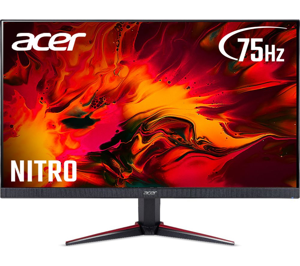 Image of ACER Nitro VG240Ybmipcx Full HD 23.8� IPS LCD Gaming Monitor - Black & Red, Black