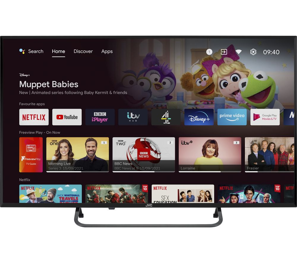 """JVC LT-43CA790 Android TV 43"""" Smart Full HD LED TV with Google Assistant"""