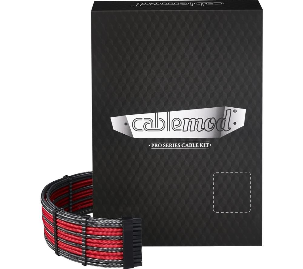 CABLEMOD PRO ModMesh C-Series AXi, HXi & RM Cable Kit - Carbon Grey & Red