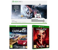 MICROSOFT Xbox One S, Star Wars Jedi: Fallen Order Deluxe Edition, Tekken 7 & Projects Cars 2 Bundle