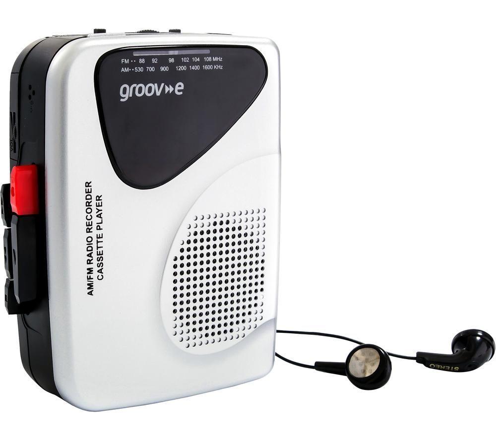 Image of GROOV-E Retro GV-PS525 Personal Cassette Player & Recorder - Silver, Silver