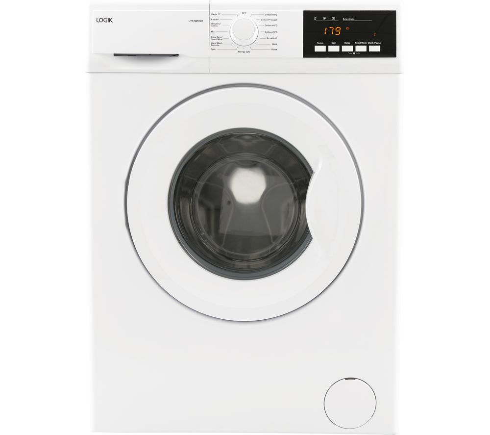 LOGIK L712WM20 7 kg 1200 Spin Washing Machine - White