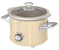 SWAN Retro SF17011 Slow Cooker - Cream Best Price, Cheapest Prices