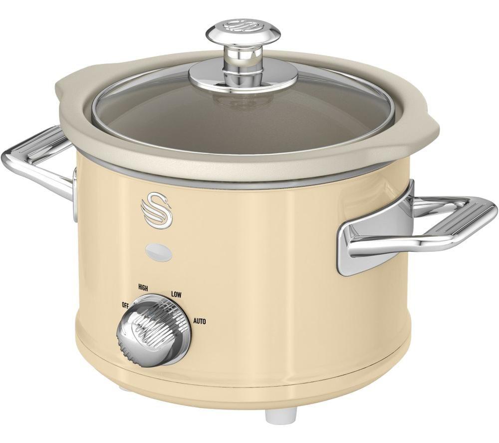 SWAN Retro SF17011 Slow Cooker - Cream, Cream