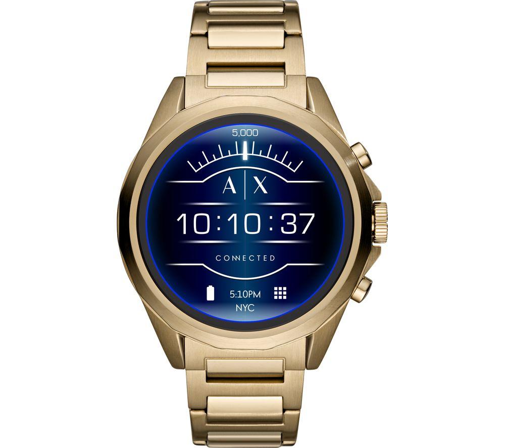 ARMANI EXCHANGE Drexler AXT2001 Smartwatch - Gold, Stainless Steel Strap, 48 mm, Stainless Steel