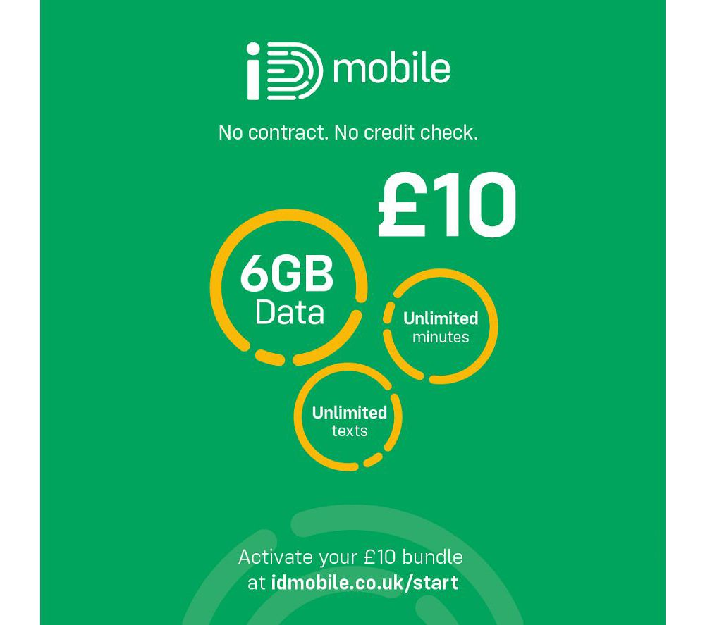 IDMOBILE 4G SIM Card - £10, 6 GB