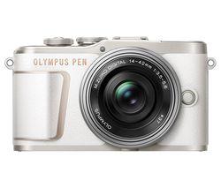PEN E-PL10 Mirrorless Camera with M.ZUIKO DIGITAL ED 14-42 mm f/3.5-5.6 EZ Lens - White