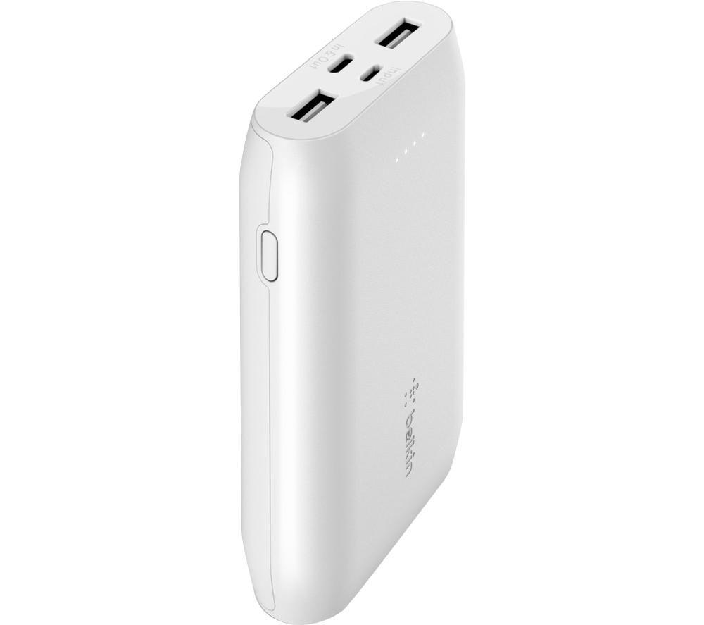 BELKIN 10000 mAh Portable Power Bank - White, White