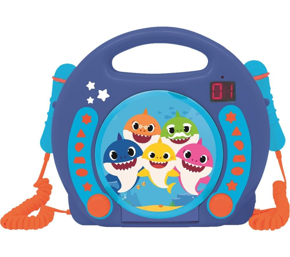 LEXIBOOK Baby Shark CD Player with Microphones