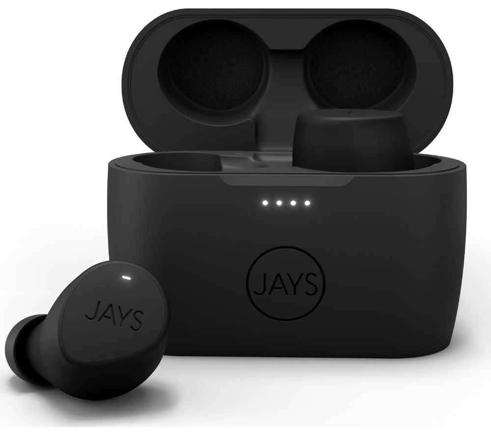 JAYS m-Five Wireless Bluetooth Earphones - Black