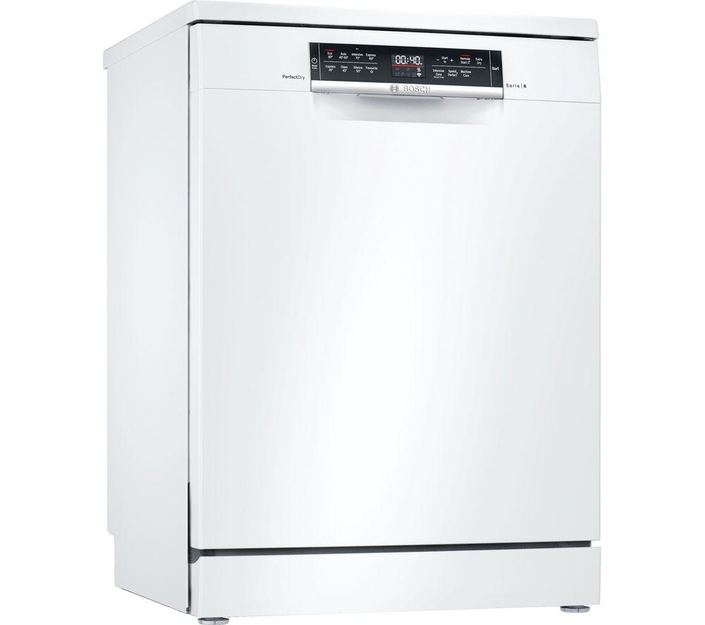 BOSCH Serie 6 SMS6ZDW48G Full-size WiFi-enabled Dishwasher - White, White