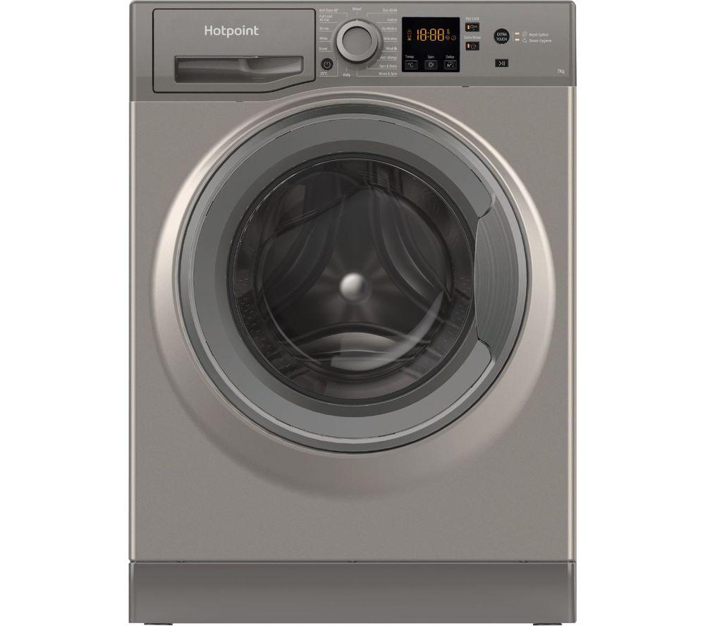HOTPOINT NSWR 743U GK UK N 7 kg 1400 Spin Washing Machine - Graphite