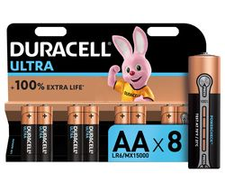 DURACELL LR6/MX1500 Ultra Power AA Alkaline Batteries - Pack of 8